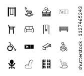 seat icon. collection of 16... | Shutterstock .eps vector #1127465243
