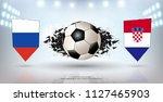 football cup 2018  quarter... | Shutterstock .eps vector #1127465903