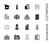 skyscraper icon. collection of... | Shutterstock .eps vector #1127469263