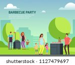 barbeque party banner design.... | Shutterstock .eps vector #1127479697