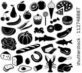 food collection   vector... | Shutterstock .eps vector #112748887