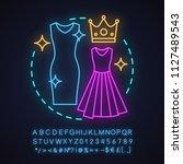 women's clothing store neon... | Shutterstock .eps vector #1127489543