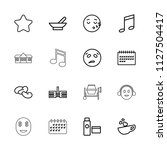 clipart icon. collection of 16... | Shutterstock .eps vector #1127504417