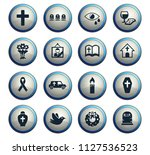 funeral services web icons for...   Shutterstock .eps vector #1127536523