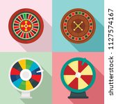 roulette wheel fortune icons... | Shutterstock .eps vector #1127574167