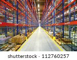 warehouse interior with... | Shutterstock . vector #112760257