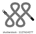 rope realistic weaving lace... | Shutterstock .eps vector #1127614277
