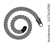 rope realistic weaving spiral... | Shutterstock .eps vector #1127614283