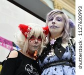 moscow  russia   june 29  2018  ... | Shutterstock . vector #1127630993