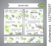 bugs insects hand drawn banner. ... | Shutterstock .eps vector #1127703257