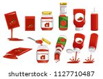 products package from tomato...   Shutterstock .eps vector #1127710487