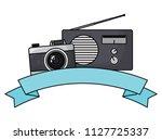 photographic camera and radio   Shutterstock .eps vector #1127725337