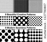 set of trendy polka dot... | Shutterstock .eps vector #1127783807