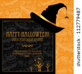 halloween vector card  or... | Shutterstock .eps vector #112779487