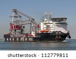 Floating crane - stock photo
