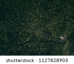 forest mountain road   aerial... | Shutterstock . vector #1127828903