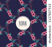 flower seamless pattern vintage ...   Shutterstock .eps vector #1127837513
