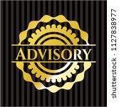 advisory gold emblem or badge | Shutterstock .eps vector #1127838977