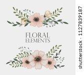 flowers background illustration....   Shutterstock .eps vector #1127839187