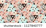 geometric folklore hipster... | Shutterstock .eps vector #1127840777