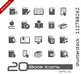 Book Icons // Basics Series - stock vector