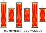 hanging scroll set | Shutterstock .eps vector #1127923103