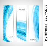 abstract vertical header blue... | Shutterstock .eps vector #112792873