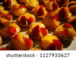 fruit tarts in a tray | Shutterstock . vector #1127933627