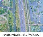 aerial view of the highway in... | Shutterstock . vector #1127936327