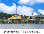 landscape of xuan huong lake ...   Shutterstock . vector #1127953463