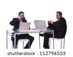 businessmen in an office...   Shutterstock . vector #112796533