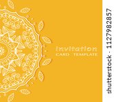 invitation or card template... | Shutterstock .eps vector #1127982857