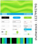 light blue  green vector ui ux...