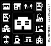set of 13 simple editable icons ... | Shutterstock .eps vector #1128012377