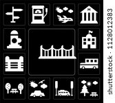 set of 13 simple editable icons ... | Shutterstock .eps vector #1128012383