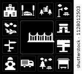 set of 13 simple editable icons ... | Shutterstock .eps vector #1128012503