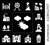 set of 13 simple editable icons ... | Shutterstock .eps vector #1128012557