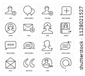 set of 16 icons such as at ...