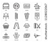 set of 16 icons such as tool ...