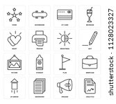 set of 16 icons such as... | Shutterstock .eps vector #1128023327