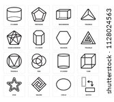 set of 16 icons such as rotate  ...