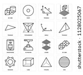 set of 16 icons such as disk ...