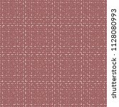 red rough fabric with a plaid... | Shutterstock .eps vector #1128080993