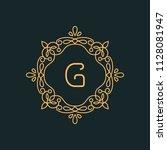 g letter luxury logo template...   Shutterstock .eps vector #1128081947