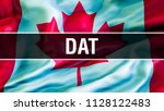 dat on canada flag. canada flag ... | Shutterstock . vector #1128122483