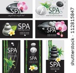 set of cards for spa salon | Shutterstock .eps vector #112815847