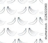 seamless pattern of outline... | Shutterstock . vector #1128222083