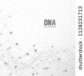 bottom structure. molecular and ... | Shutterstock .eps vector #1128231713