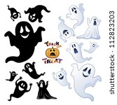 Set Of Halloween Ghost ...