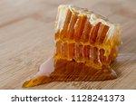 honeycomb full of honey   Shutterstock . vector #1128241373